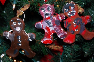 Salt Dough Gingerbread Zombie Ornaments for The Walking Dead fans!
