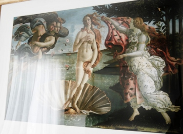 Botticelli's Birth of Venus framed print purchased from www.allposters.com