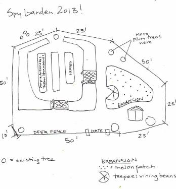 2013 Spy Garden Plan