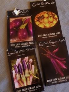 Spy Garden 2013 Eggplant Varieties