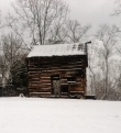Old Barn near Spy Garden with snow