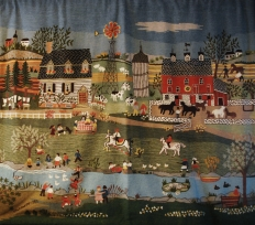 Rita Schroeder tapestry: love looking at this on a cold winter day!