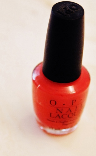 Best Nailpolish color: Cajun Shrimp. Is it red? Is it pink? Is it orange? It's the best!
