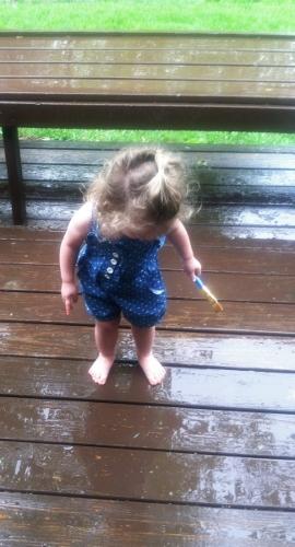 Rain painting!