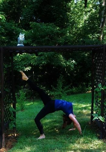 Spy Garden yoga!