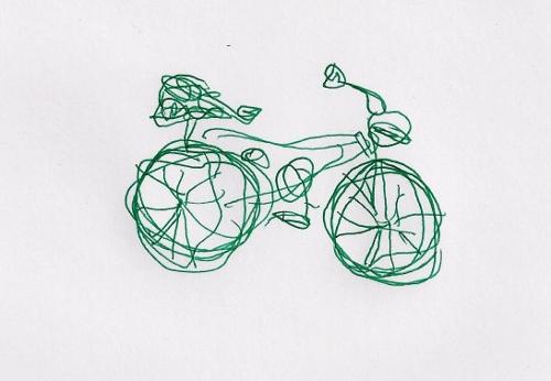 Left-handed bicycle