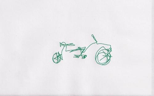Blind-folded bicycle