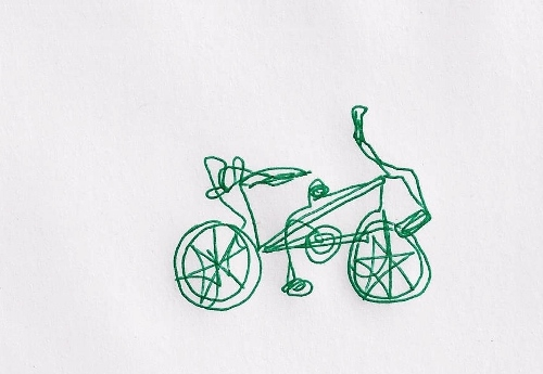 Continuous line bicycle