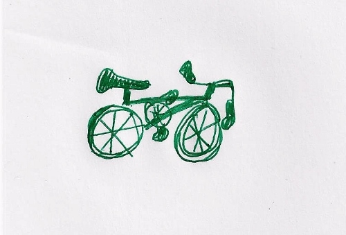 Right-handed bicycle