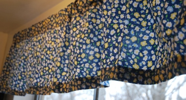 This is my kitchen curtain. I made it!