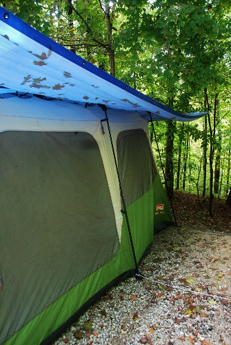 A BIG tarp is the KEY to tent camping success!