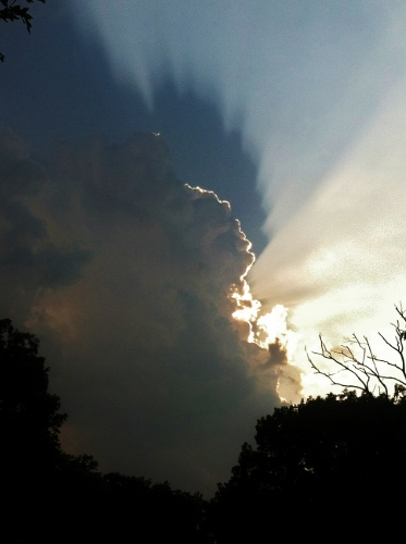 """And doesn't this sky over Spy Garden today just scream """"Aren't I awesome? Love, God"""""""