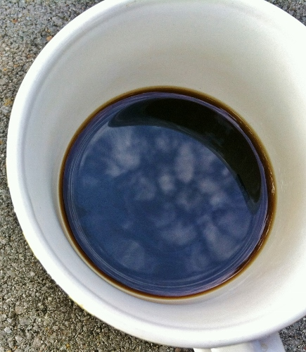 Look, there really are clouds in my coffee