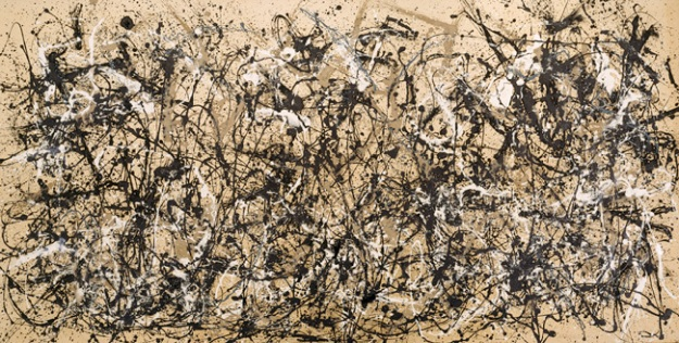 You need that jet black for contrast. (Jackson Pollock, Autumn Rhythm)