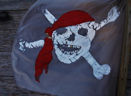 The Spy's pirate flag