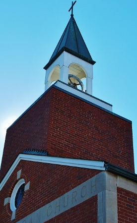 The steeple/bell tower.