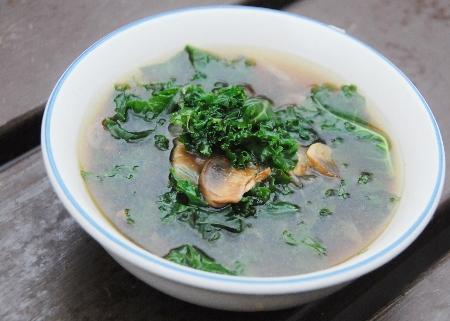 Kale and Mushroom Soup