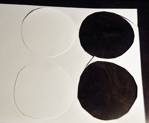 Cut two circles from paper (or cardstock makes it a bit easier)