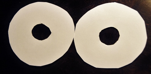 Cut holes in each circle