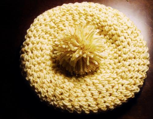 Hat with pom-pom