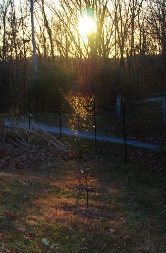 Sun setting earlier and earlier!