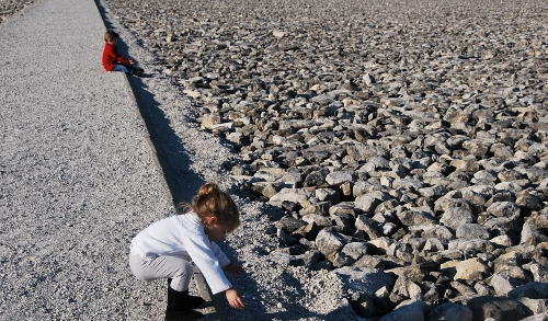 Baby LOVES gravel.