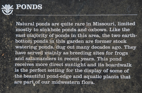 About ponds in Missouri