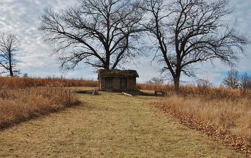 A sod-house