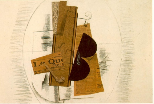 George Braques, Violin and Pipe 1913