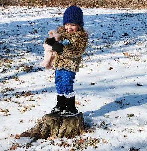 Baby on Tree Stump