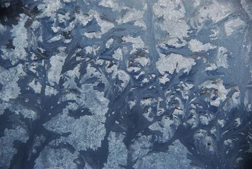 Ice on the windows