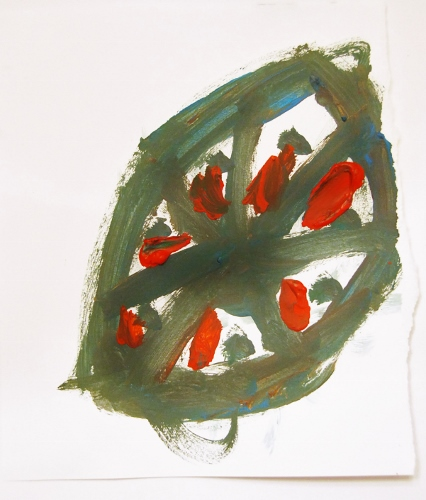 Shape. Acrylic on paper. By the Spy