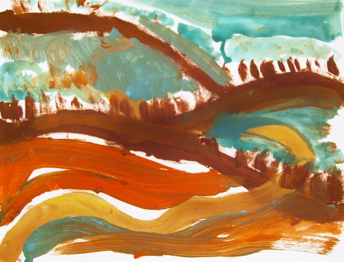 Painting inspired by Lonesome Dove. By my sister and I