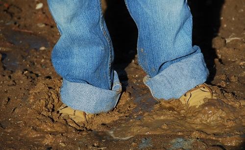 It was a little bit muddy.
