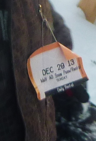 Powder Valley Lift Ticket (from the Spy's friend's jacket)