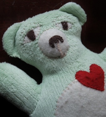 Bear stuffed animal made by www.crissypenuel.com