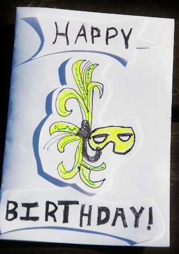 Birthday card made by the Spy