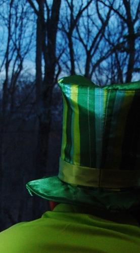 Green shirts and green hats...