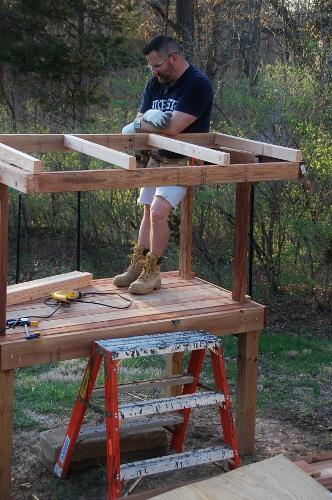 Smoochie build the new corner office.