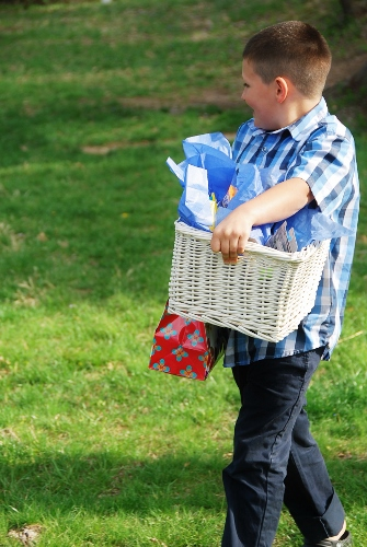 Back at home hunting for Easter baskets!