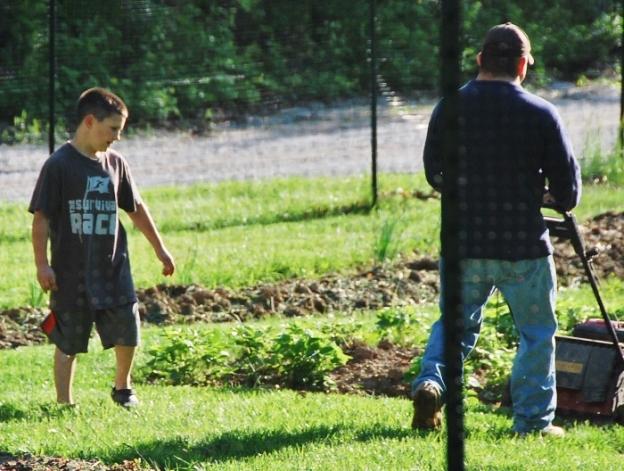 First Garden Mow of the Season