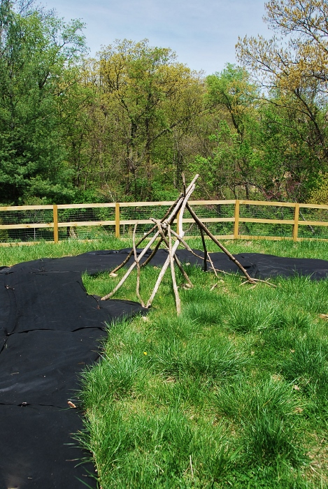 Didn't get to edge this one today. This teepee is temporary, the final teepee will be installed soon!
