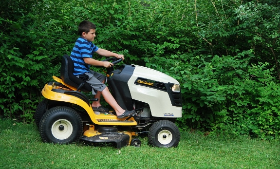 Mowing the lawn!
