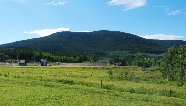 Baseball Field at the edge of Arapaho National Forest