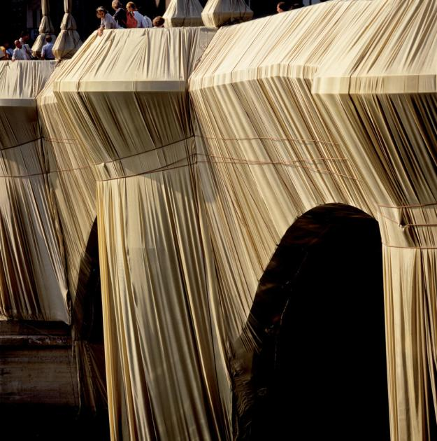 The Pont Neuf Wrapped. 1975-85. Christo and Jeanne Claude. Photo: Wolfgang Volz