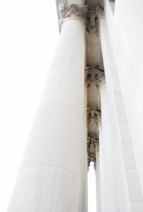 Columns with White Sky (St. Louis Art Museum)