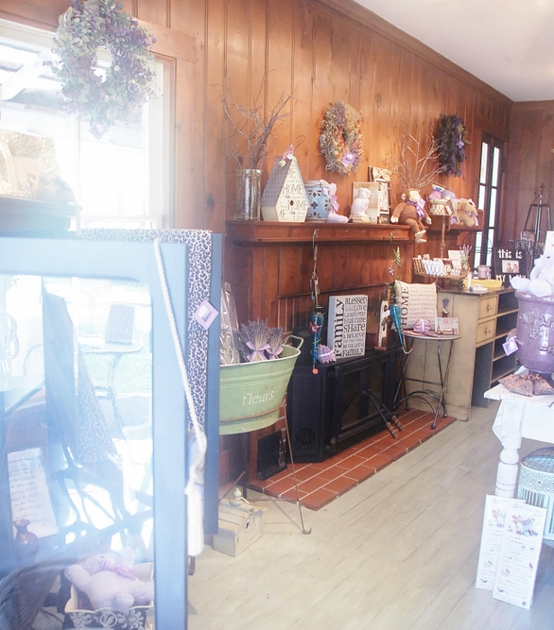 The shop (shoppe!) is in a century-old farmhouse.