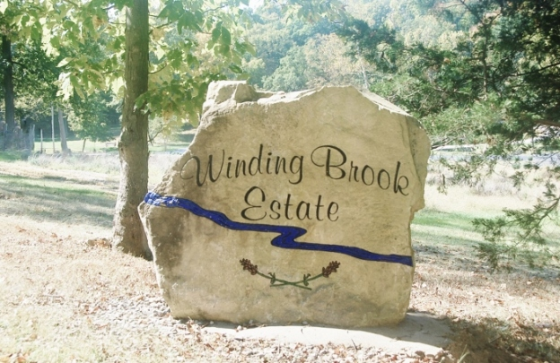 The entrance of Winding Brook Estates