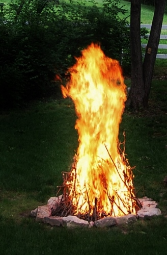 Spy Garden's own classical sculpture...in fire! (2013)