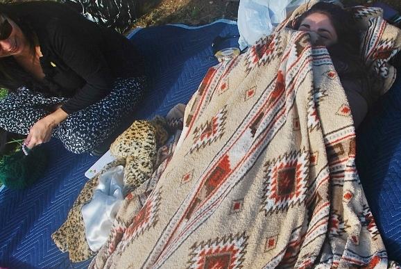 Brrrr! Spy Sister warming up. haha